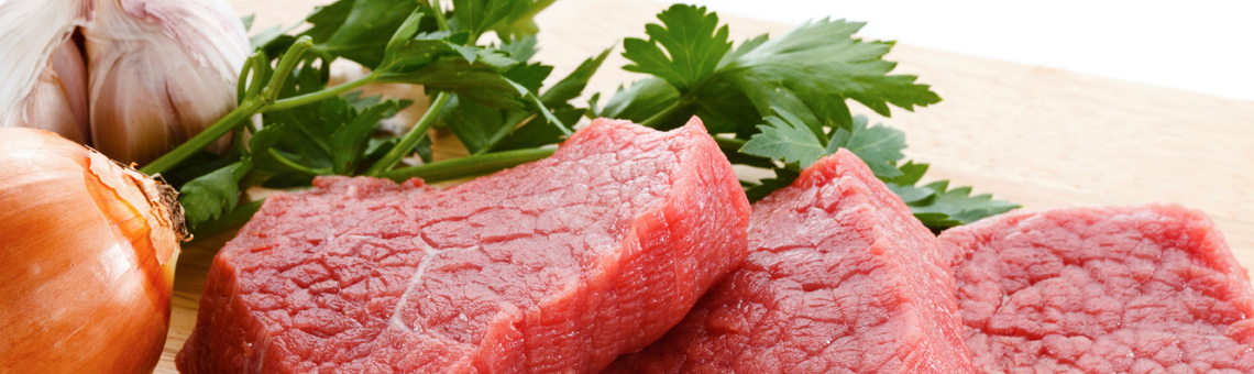 Meat with parsley